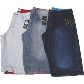 Bermuda Jeans Masculina Oakley Quiksilver Kit 10 Peças Top