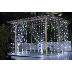 Cortina Led Blanco Frio 3x3 Decoracion Evento Fiesta Boda