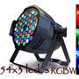 Refletor Led Par 64 54 Leds Cree De 3w Rgbw Dmx Strobo Cree