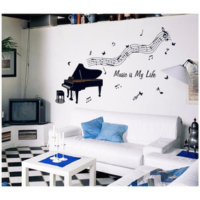 Adesivos Notas De Música Piano 3d