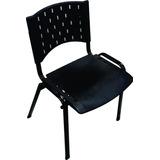 Cadeira Fixa 4 Pés (nova) Preta Pvc Polipropileno P/ Igreja
