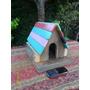Casa Casita Pájaro En Maderas Recicladas, Para Decoración Aa