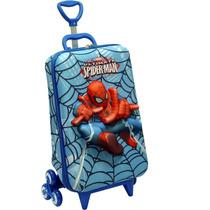 Mochila Valija Spiderman Diplomata Ruedas Escalera 3d Sipi