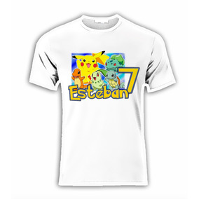 Playera Personalizada Pokemon Pikachu P/fiesta !!!