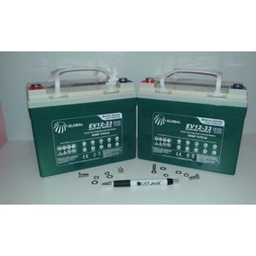 Kit 2 Bateria Global 12v 35ah Cadeira De Rodas Ortomix