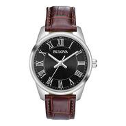 96a221 Reloj Bulova Clásico Cafe/negro
