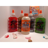Kit Slime 4 Adhesivos + Activador + 5 Charms Elmers Original