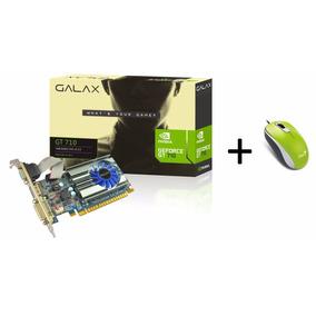 Placa De Vídeo Gt 710 1gb Ddr3 64 Bit 1600mhz + Mouse