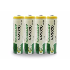 Pila Bateria Recargables Aa 3000mah Ni Mh Dobles A Marca Bty