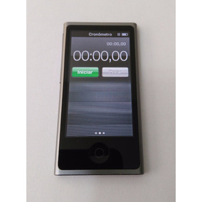 Ipod Nano 7 Chumbo 16gb Cinza Mp3 Rádio Usado Parcela Vfjq1