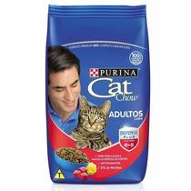 Racao Purina Cat Chow Adultos - Carne 10 Kg.