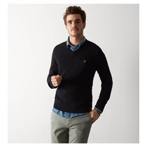 American Eagle Aeo Iconic V-neck Sweater Excelentes!!!...
