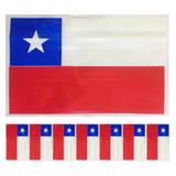 Bandera Plásticas Chilenas Fiestas Patria 18 Septiembre