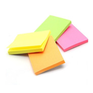 Kit Com 5 Blocos Adesivo Post-it Color 100x76mm Stick Note