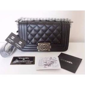 Bolsa Chanel Le Boy 25 Cm 100% Original Couro Frete Gratis