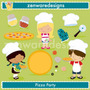 Kit Imprimible Pizza Party Imagenes Clipart