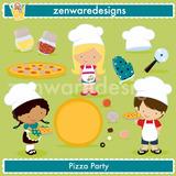 Kit Imprimible Pizza Party Imagenes Clipart