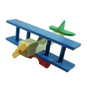 Avião Em Madeira Brinquedos Educativos
