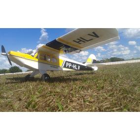 Aeromodelo Elétrico Paulistinha Amarelo Preto + Combo