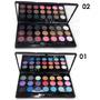 Kit Maquiagem Playboy Estojo 21 Sombras 3d + Pincéis Espelho