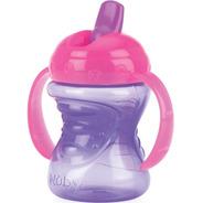 Copo Treinamento Bebê Com Alça E Bico Rígido Retrátil 240ml