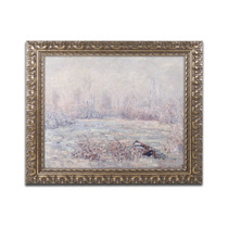 Frost Near Vetheuil Ornate Framed Canvas Art By Claude Mon