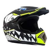 Casco Cross Negro/amarillo/blanco  R7 Racing Md-905 Talla Xl