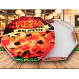 Caixa Pizza 30cm Oitavada Fotográfica 100 Un. Fabricante