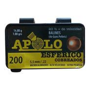 Balines Apolo Esféricos Cobreados 5.5 X200 Peso:1,00grs 14g