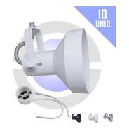 Spot P/ Lâmpada Ar111 Trilho Perfilado Eletrocalha 10 Unidad