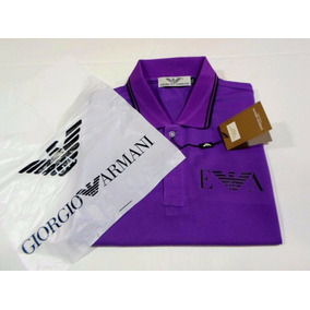 Pólo Giorgio Armani - Armani Jeans - A . J - Piquet Purple