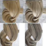 Cabelo Humano Loiro Fita Adesiva Inteira 100g 50cm Mega Hair