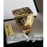 Anillo Sello De Oro 18k- Relieve -7grs - Merlin Joyas-