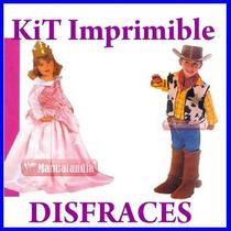 Mega Kit Imprimible Confección Moldes Y Patrones Disfraces !