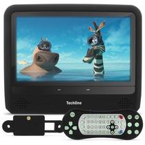 Tela Encosto Portátil Techone Monitor 9 Preta Dvd Usb Sd Av