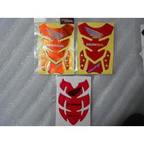 Protector De Tanque De Gel Honda Racing Rojo, Naranja