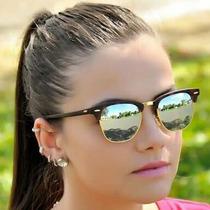 Óculos De Sol Rayban Clubmaster Espelhado Made In Italy