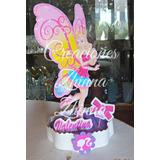 Cotillon C.zhinna Creaciones Centro De Mesa Barbie Hada