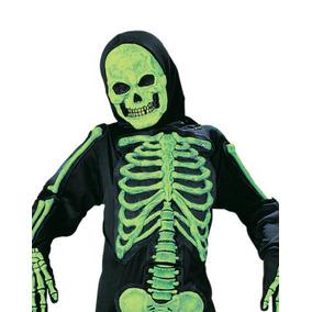Disfraz Calavera Esqueleto Color Verde Talla 3-4