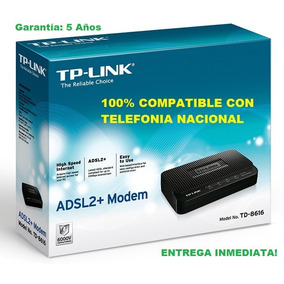 Modem Tp-link Internet Banda Ancha Td-8616 + Pto Venta + Tie