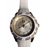 Relógio Carmen Steffens Feminino Branco E Dourado Promoção
