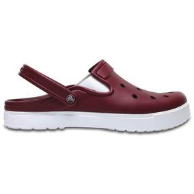 Zapato Crocs Unisex Dama City Sneaks Slim Vino