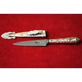 Cuchillo De Alpaca Y Oro. Hoja Atahualpa