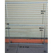 Gancho Blister Organizador Rack Closet Colgador 1.00m