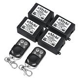 Emylo Dc 6v 4x 1ch 433mhz Rf Wireless Remote Control Relay 2