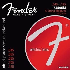 Encordoamento Contra Baixo 5 Cordas Fender 045 72505m Usa