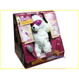 Barbie My Fab Pets Sequin Perro Blanco Peluche Interactivo