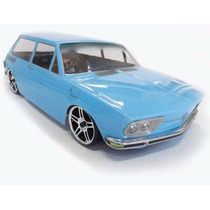 Automodelo Himoto Vokswagem Brasília 74 Azul Bebê 1/10 Rc