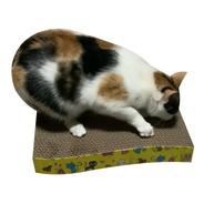 Rascador Gatos Rectángulo Ondulado Corto Catnip Pequeño
