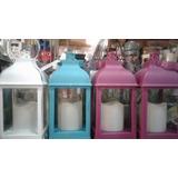 Fanal - Farol Plástico Con Vela Led - 3colores - 23x11cm